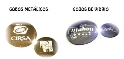 Gobos metálicos y de vidrio